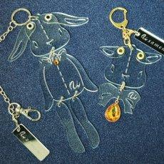 画像8: <値下げ>ウサギのフリフリバッグチャーム(ドールタイプ) <ブラック> (8)