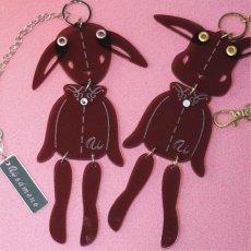 画像11: <値下げ>ウサギのフリフリバッグチャーム(ドールタイプ) <ブラック> (11)