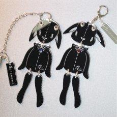 画像12: <値下げ>ウサギのフリフリバッグチャーム(ドールタイプ) <ブラック> (12)