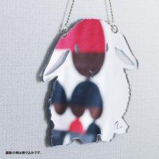 画像1: 壁掛シルエットミラー(うさぎたれ耳) 小 (1)