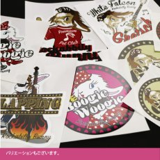 画像4: Rockabbily Bunnyステッカー 丸型 Himaman (4)