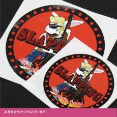 画像2: Rockabbily Bunnyステッカー 丸型 Himaman (2)
