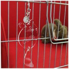 画像1: <在庫限り値下げ>しっぽがフリフリ! ケージプレート(チンチラB) (1)