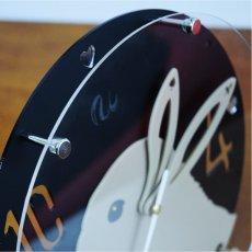 画像7: うさぎの時計<ラウンドタイプ>ダッチ柄 (7)