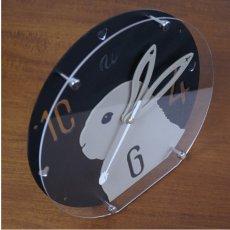 画像2: [OUTLET]うさぎの時計<クリスマスデザイン>ラウンドタイプ (2)
