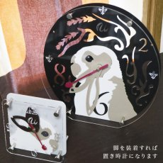 画像6: うさぎの時計<ラウンドフレーム>ブロークン柄 (6)
