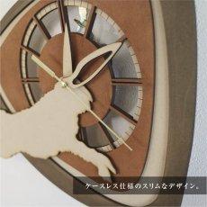 画像3: お耳が動くうさぎの時計 XING design 壁掛け時計  Woody Line (3)