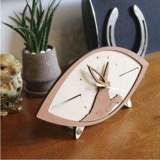 画像4: お耳が動くうさぎの時計 XING design 置き時計  Woody Line (4)