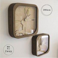 画像1: お耳が動くうさぎの時計 XING design  置き掛け2way Woody Line (1)