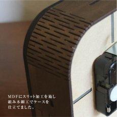 画像5: お耳が動くうさぎの時計 XING design  置き掛け2way Woody Line (5)