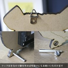 画像3: チンチラのシルエット時計<Woody Line> (3)