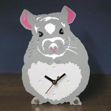 画像1: チンチラのシルエット時計 (1)