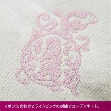 画像4: <在庫限り>ウサギ刺繍キャンバストート《06ダブルリボン/垂れ耳》 (4)