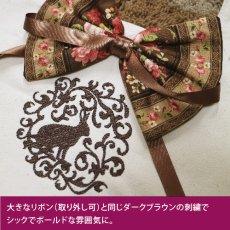 画像3: <在庫限り>ウサギ刺繍キャンバストート《08リボン/立ち耳》 (3)