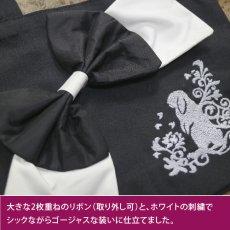 画像3: <在庫限り>ウサギ刺繍キャンバストート《14ビッグリボン/垂れ耳》【送料無料】 (3)