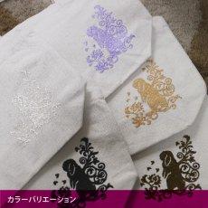 画像4: <在庫限り>ウサギ刺繍キャンバストート《垂れ耳/刺繍大/ライラック》 (4)