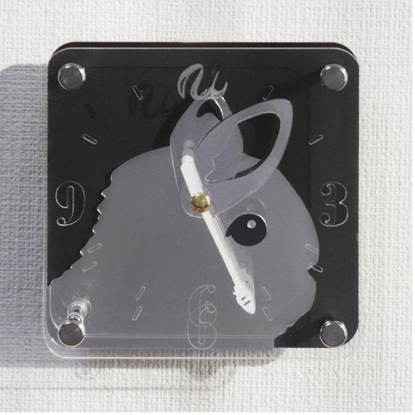 画像1: うさぎの時計<ミニタイプ>文字盤タイプフェイス (1)