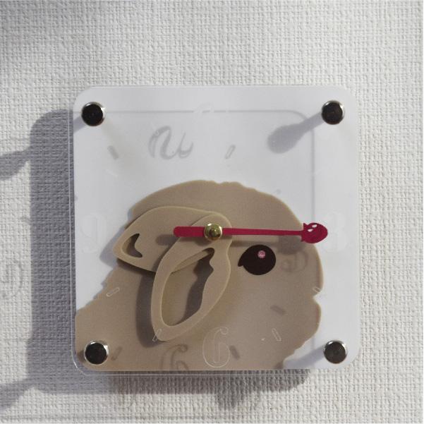 画像1: カラーが増えました!うさぎの時計<ミニフレーム>カバー:タイプフェイス (1)