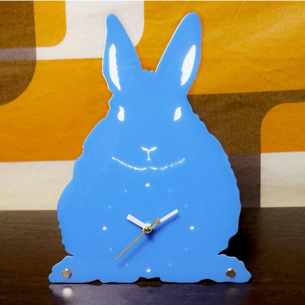 画像1: うさぎのシルエット時計(立ち耳) (1)