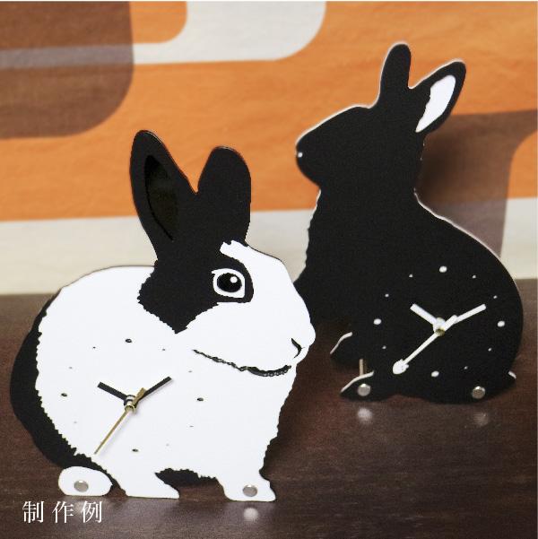 画像1: 【フルオーダー】『うちの子』シルエット時計 (1)