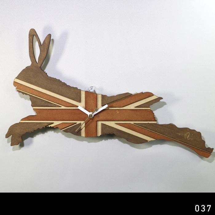 画像1: 【アウトレット】うさぎの時計 XING design  Union Jack (1)